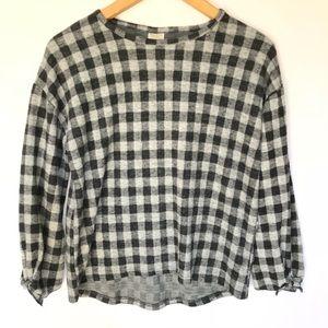 NWT Zara Girls 11-12 Plaid Long Sleeves Shirt Top